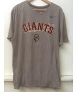 San Francisco Giants Mens Gray Nike Athletic Cut T Shirt Tee XL Extra Large - $16.95