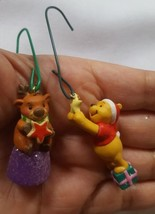 2 Small Hallmark Christmas xmas tree holiday ornaments Winnie the pooh R... - $14.92