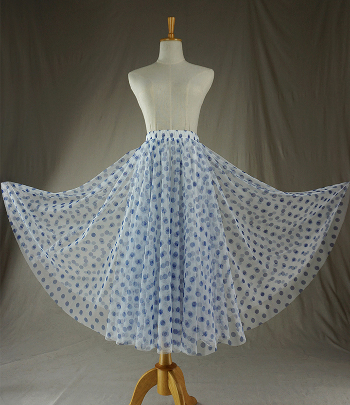 Tulle skirt blue dot 5