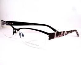 Carmen Marc Valvo Eyeglasses Bianca Black Women Metal Plastic 55-17-135 - $98.96