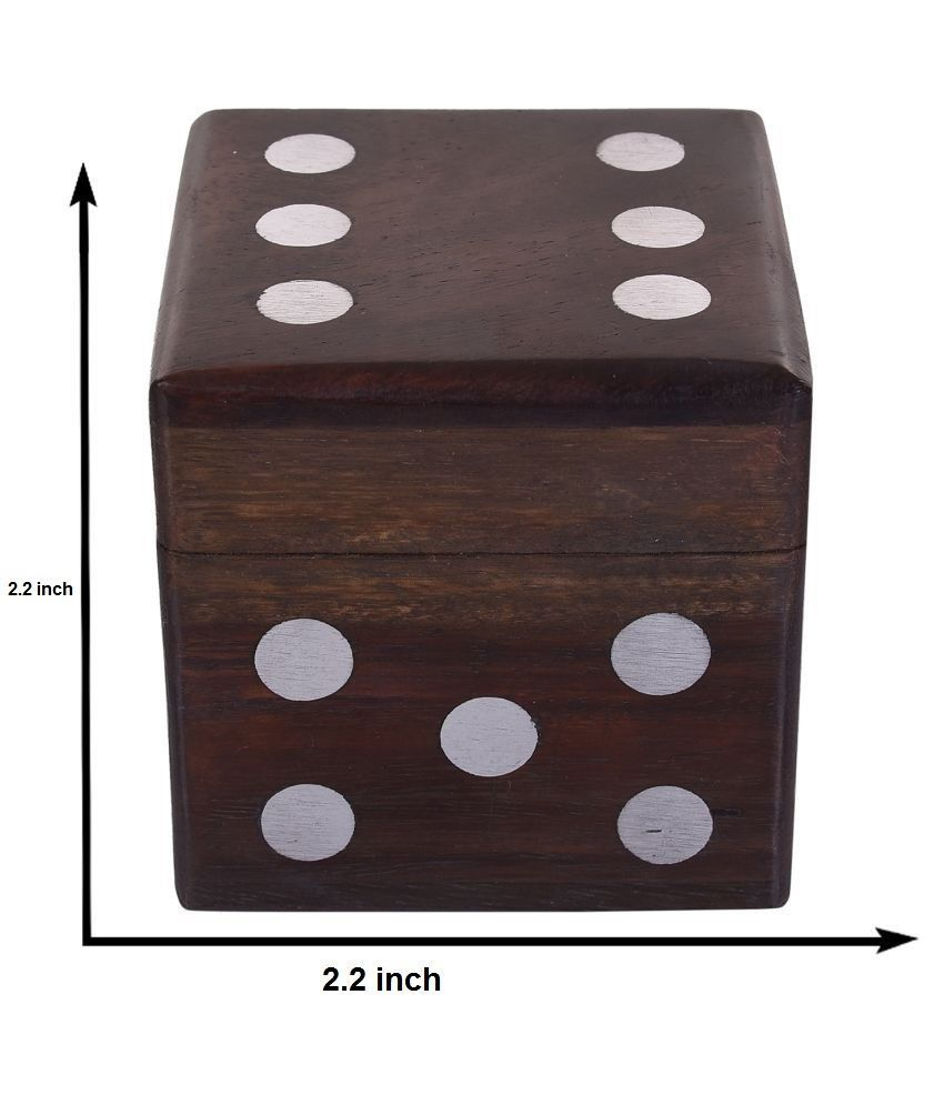 Buddha4all Beautiful Decorative Square Shape Box Game Ludo Dice Board Game