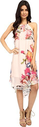 O'Neill Juniors Cynthia Vincent Rosette Dress, Rose/Rose, Large