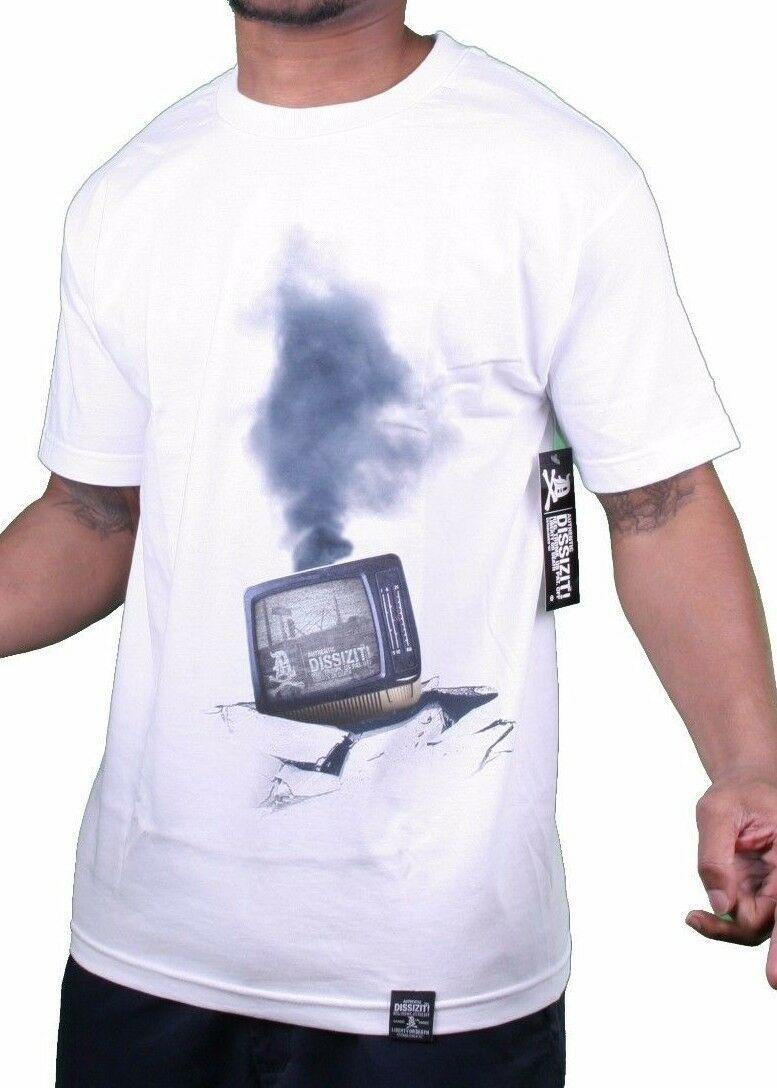 Dissizit Bianco Uomo 2012 20 Anni Commemorative Los Angeles Strada Riots T-Shirt