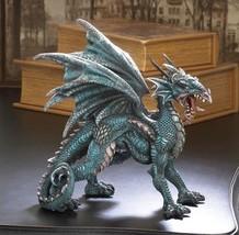 ROARING FIERCE DRAGON STATUE Wings Spread Mythical Figurine - $24.89