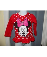 Disney Minnie Mouse Red Long Sleeve Shirt Size 2T Girl's EUC - $19.36