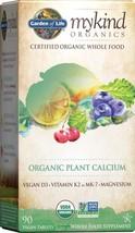 Garden of Life mykind Organic Plant Calcium 90 Tablets- Vegan Whole Food Supplem - $27.63