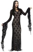 Fun World Famiglia Addams Morticia Addams Tenebre Donna Haloween Costume 124044 - $55.86