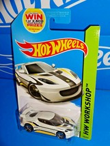 Hot Wheels 2014 HW All Stars Series #193 Lotus Evora GT4 White w/ 10SPs - $3.50