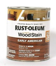 1 Can Rust-Oleum 32 Oz Ultimate Wood Stain 344723 Early American Dries I... - $21.99