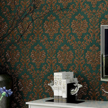 beibehang Retro Damascus wall paper roll Wallcovering Wallpaper For Living Room - $79.95