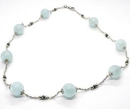 925 Silber Halskette, Aquamarin Kugel, Pyrit Facettiert, Kette Rolo image 1
