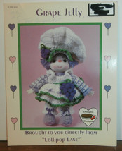 Grape Jelly Doll Lollipop Lane Dumplin Designs Crochet Pattern Leaflet  - $6.89