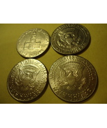 LOT OF 4 KENNEDY HALF DOLLARS (DIFFERENT DATES ONE IS 1983)  COMBINED SH... - $4.99