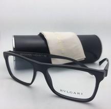 New BVLGARI Eyeglasses 3028 501 55-17 140 Black Frame with Carbon Fiber Temples