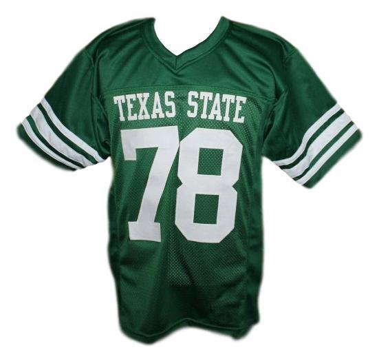Andre krimm  78 texas state necessary roughness movie football jersey green   1