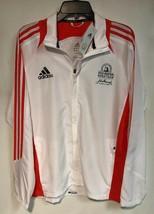 adidas Men's 2012 Boston Marathon Windbreaker Jacket Track White Orange Med - $39.59