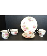 Royal Albert American Beauty 2 Cups & 1 Saucer * Dessert * Creamer * Sugar - $47.49