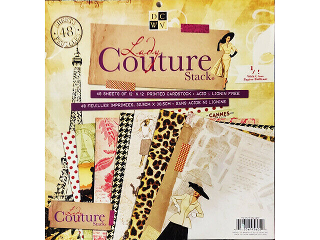 DCWV Lady Couture Cardstock Paper Pad #PS-005-00147