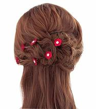 10 PCS Lovely Flower Pattern Hair Pins/Clips Headwears, Red
