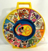 Vintage See 'N Say Wonderful World of Color Disney Mattel Toy 1988 WORKS - $9.89