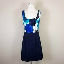 Anthropologie Tabitha Silk Floral Top Dress Size 8 Sleeveless - $17.79