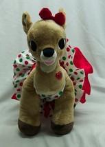 "Build-A-Bear Rudolph Misfit Toys CLARICE GIRL REINDEER W/ DRESS 14"" Plus... - $34.65"