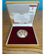 2008 Beijing Olympic Mascots Commemorative Coin Medallion Gold plated B... - $22.72