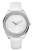 Guess Women White Rose 46mm Large Case Jewelry Watch # W85075L1 - £174.22 GBP