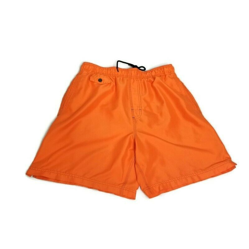 Primary image for Nat Nast Mens M Hazard Orange Swim Trunks Mesh Lined Shorts Surf Swim Beach