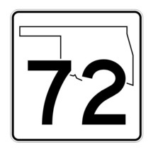 Oklahoma State Highway 72 Sticker Decal R5641 Highway Route Sign - $1.45+