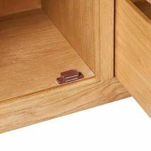 vidaXL Solid Oak Sideboard w/ 3 Drawers 2 Doors Side Storage Cabinet Cupboard image 5
