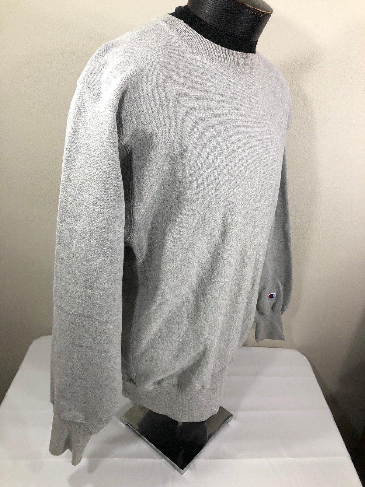 VTG Champion Reverse Weave Sweatshirt Crew Neck Jumper XL 90s Warm Up Grey