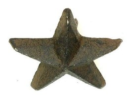 Set of 6 CAST IRON Small Nail Star Western Wall Decor - $12.86