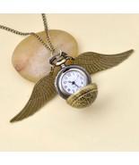 Harri Potter Cosplay Golden Wings Snitch Toy Watch Quartz Pocket Watch N... - $9.90