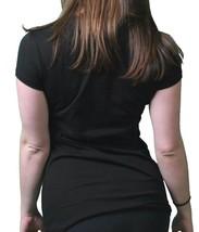 Famous Stars & Straps Womens Juniors London Punk Scoop Neck Black T-Shirt image 2
