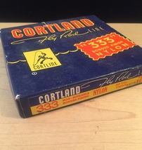Vintage Cortland fly rod line packaging and spool image 2