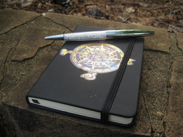 Haunted Book of Shadows and MAGICKAL AUTOMATIC GHOSTLY WRITING PEN - $66.66