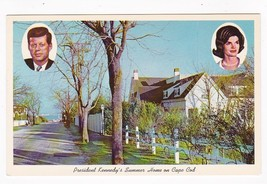 JOHN F KENNEDY & FIRST LADY SUMMER HOME CAPE COD  VINTAGE UNUSED POSTCARD - $2.48
