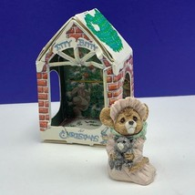 Itty Bitty Christmas ornament united design mouse mice critter 1986 baby... - $24.70