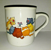 "Vintage 1985 Hallmark Rim Shots Coffee Mug Cat & Mouse ""I sure could use... - $16.99"