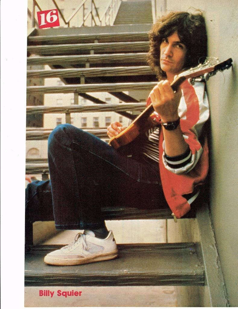Billy Squier teen magazine pinup clippings Rockline Singer Actor Tiger Beat