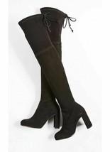 New Stuart Weitzman Size 8.5 Hiline Black Suede Otk Tall Boots 8 1/2 w/ Box - $489.00
