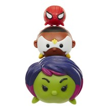 Marvel Tsum Tsum 3 Pack Series 1 Gamora Falcon Spider-Man - $12.82