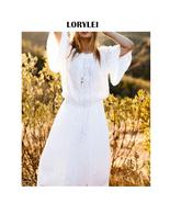 Uit cover up dress plus size long cotton white elegant summer beach dress tunic sarong thumbtall