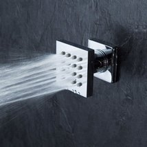 Cascada Modern Solid Brass 16-Nozzle Square Body Spray Jets Shower, Oil Rubbed B - $66.45