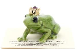 Hagen-Renaker Miniature Ceramic Frog Figurine Birthstone Prince 02 February - $9.96