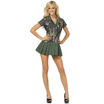 Camo Cutie Camouflage Adult Womens Costume Size 6-8 NEW - $18.76