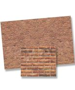 Dollhouse 1:24  Modern Brick Wall Material Sheet 24977 World Model Minia... - $5.55