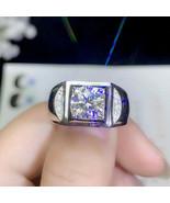 14K White Gold Over Mens Round 2.00Ct Diamond Engagement Wedding Pinky B... - $91.68
