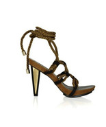 DVF Women's Brown Voleta Rope Tie Suede Sandals Heels Shoes- Sz: 7M - $144.49